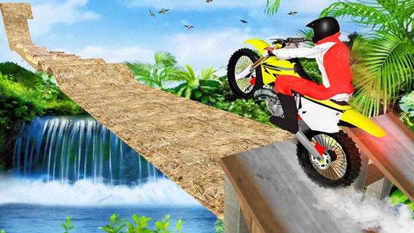 摩托车特技赛跑截图