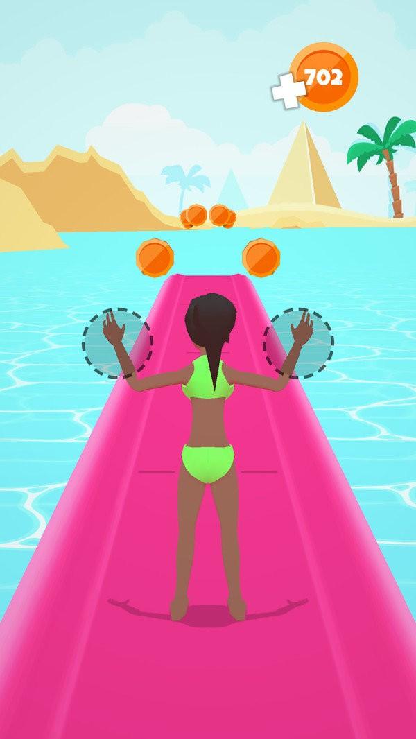 水上人形墙3D