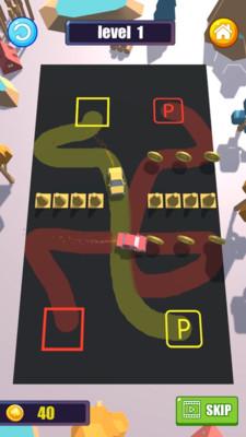 划线停车截图