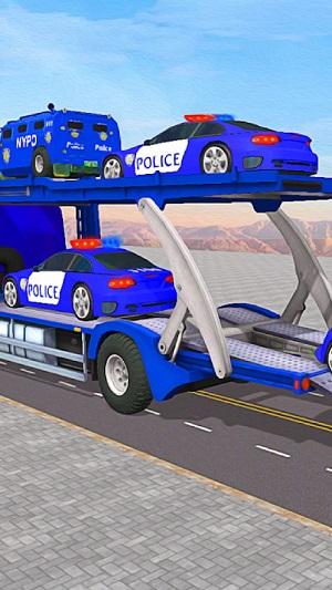 警察运输卡车3D