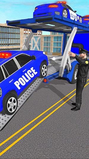警察运输卡车3D截图