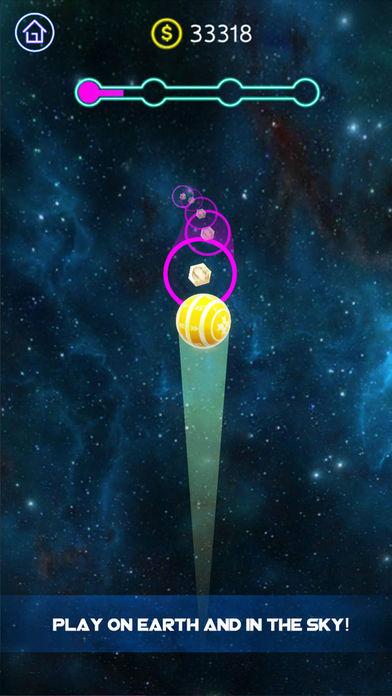 跳动的霓虹球截图