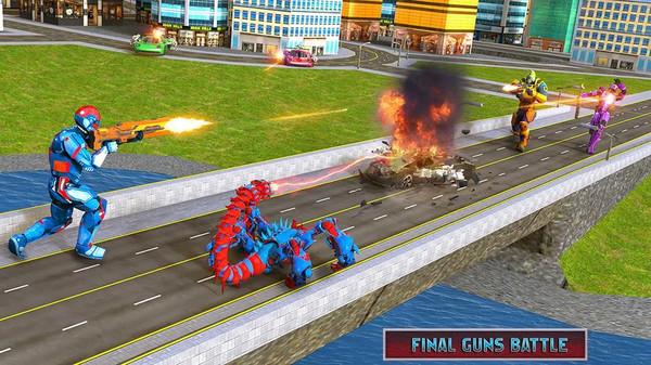 蝎子机器人射击截图
