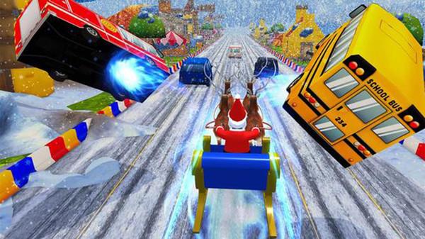 圣诞童车比赛截图