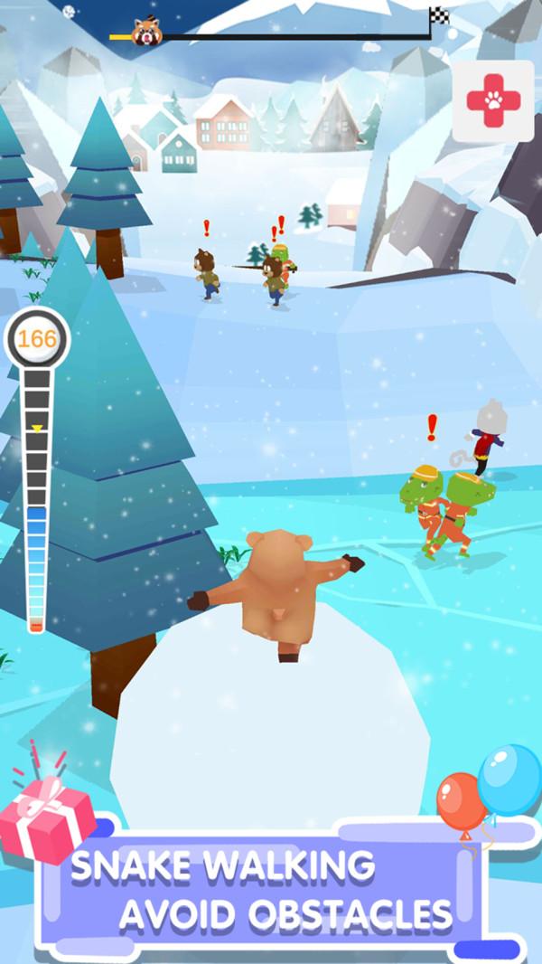 踩着雪球的熊熊截图