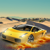 沙漠公路奔跑