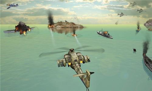 直升机空袭截图